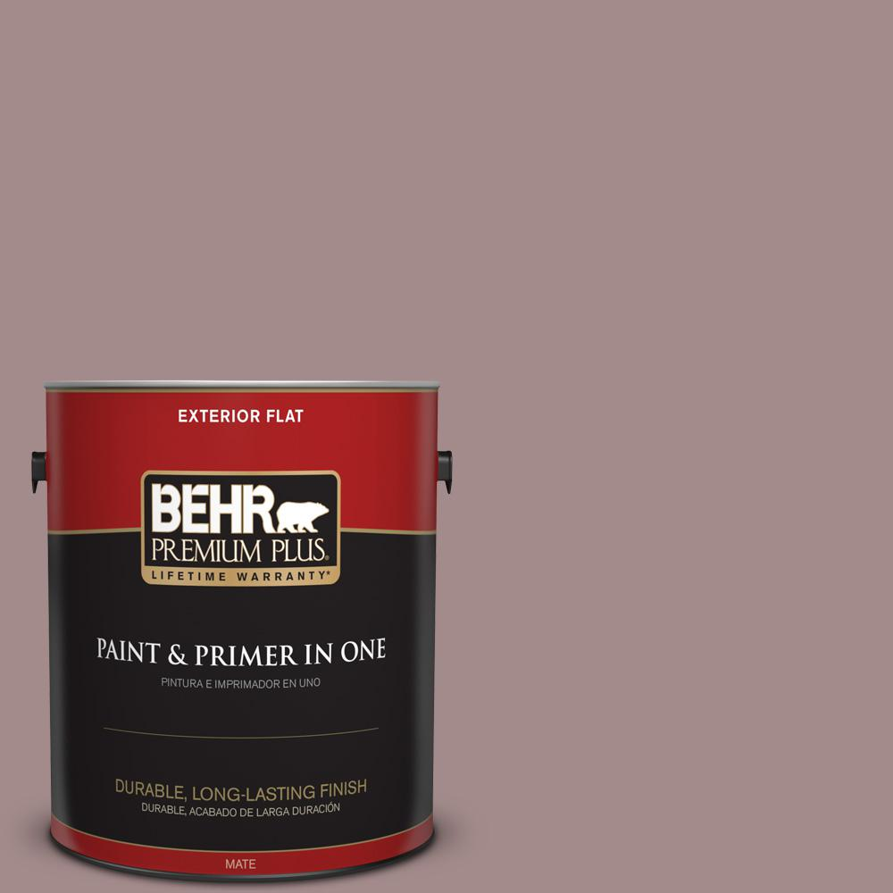 1 gal. #PPU17-15 Cameo Rose Flat Exterior Paint