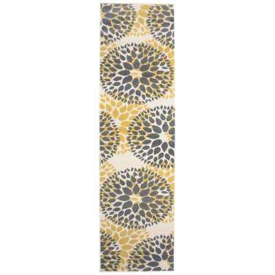 4 Up Spot Clean Yellow 2 X 7 Area Rugs Rugs The Home Depot