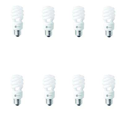 60-Watt Equivalent Spiral Non-Dimmable CFL Light Bulb Soft White (8-Pack)
