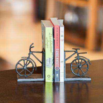 Bicycle Dark Brown Cast Iron Bookends (Set of 2)