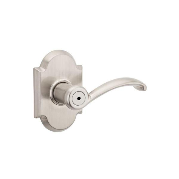 Austin Satin Nickel Privacy Bed/Bath Door Lever with Microban Antimicrobial Technology