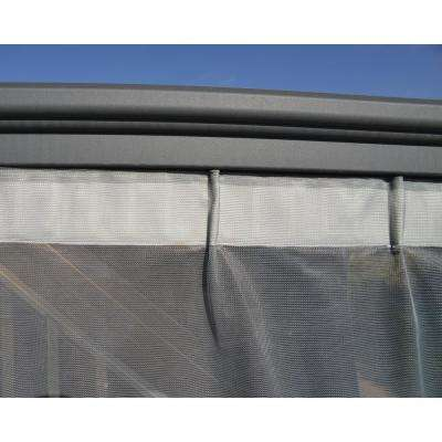 Milano 4300/Martinique 5000 Garden Gazebo Netting Set in Gray (6-Pieces)