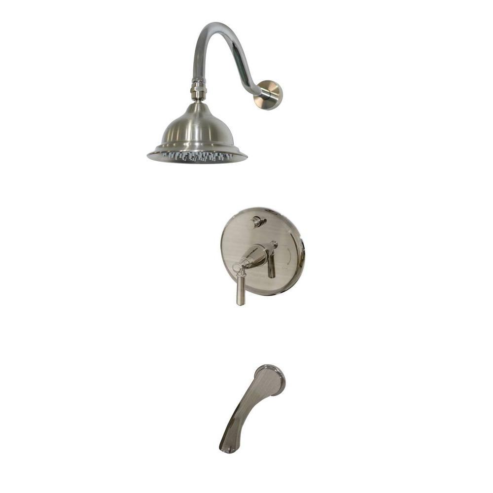 Artistry Pressure Balance Single-Handle 1-Spray Tub and Shower Faucet in Satin