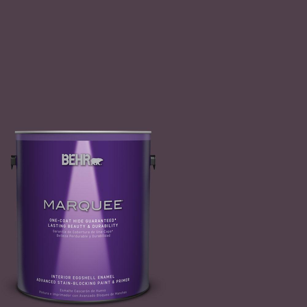 1 gal. #T13-10 Plum Orbit Eggshell Enamel Interior Paint