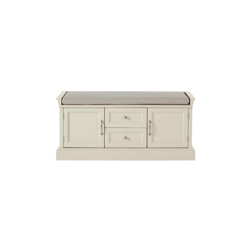 Royce Storage Polar White Bench