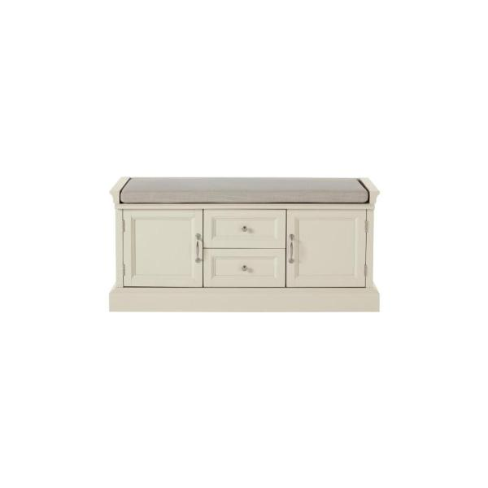 Royce Storage Polar White Bench