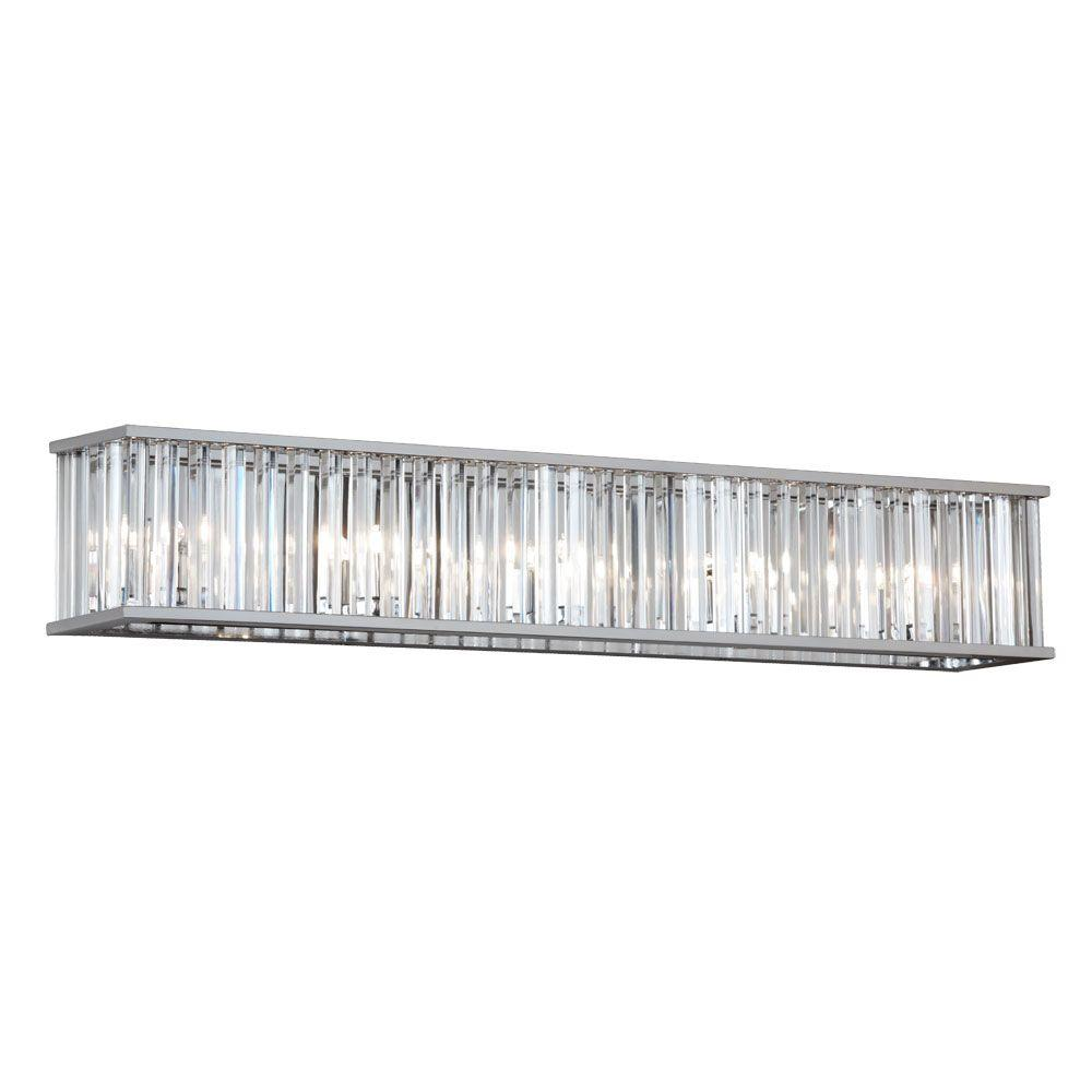 Radionic hi tech aruba 7 light polished chrome vanity light with radionic hi tech aruba 7 light polished chrome vanity light with crystals aloadofball Image collections