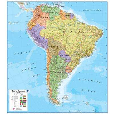 South America 1:7 Wall Map