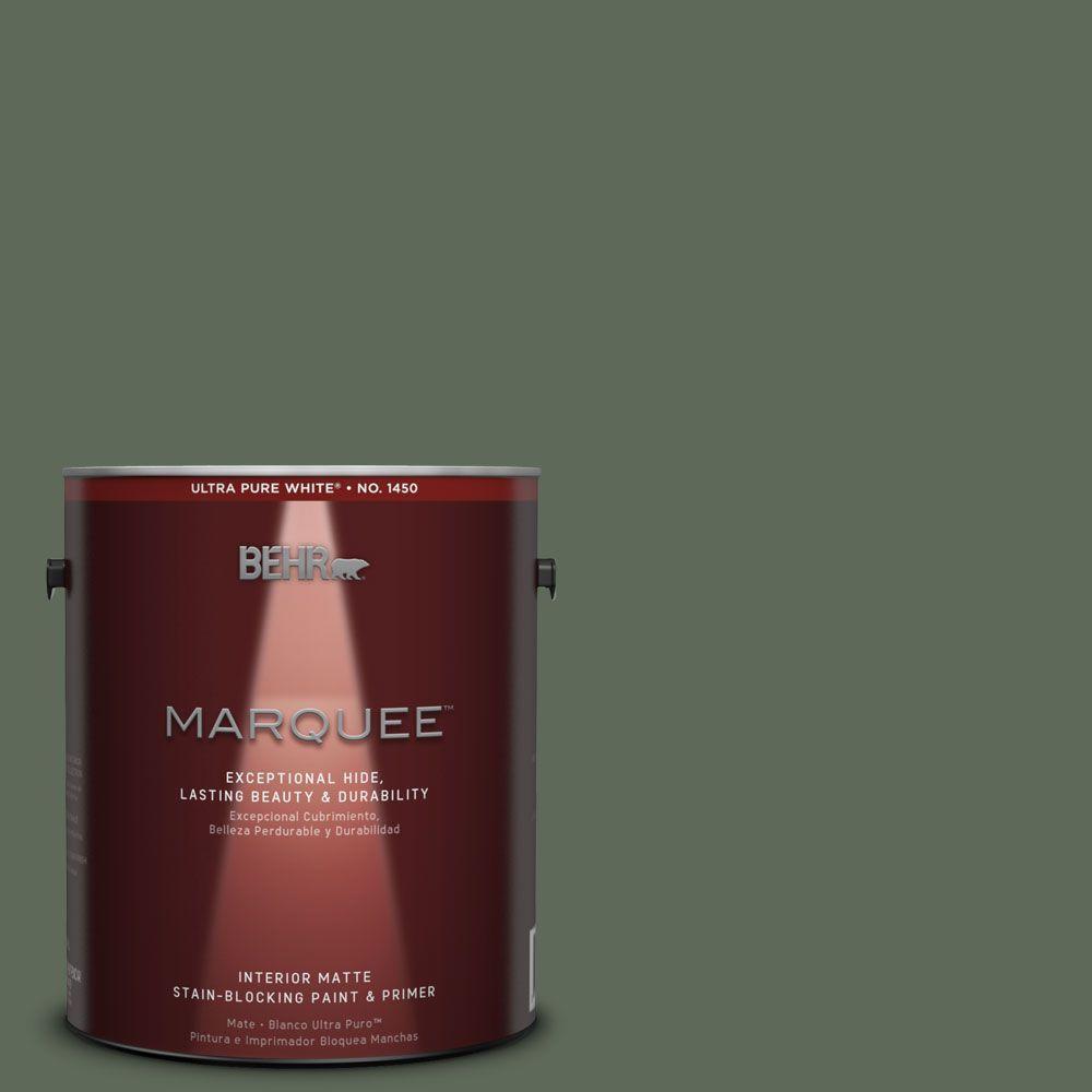 1 gal. #MQ6-15 Less Travelled One-Coat Hide Matte Interior Paint