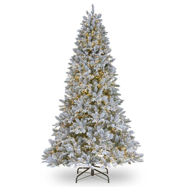 9 ft. Feel Real Iceland Fir Hinged Tree with 4500 LED Dual Color Cosmic Lights with PowerConnect