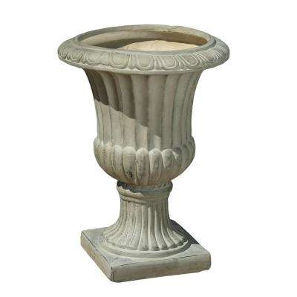 Antique Green Italian 26-inch Urn Planter