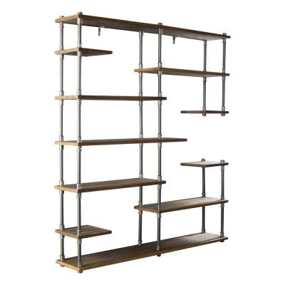 New Age 73 in. Hammered Bronze/Aged Bronze Metal 11-shelf Etagere Bookcase with Open Storage