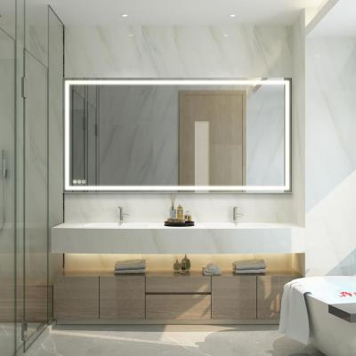 72 in. W x 36 in. H Frameless Rectangular LED Light Bathroom Vanity Mirror