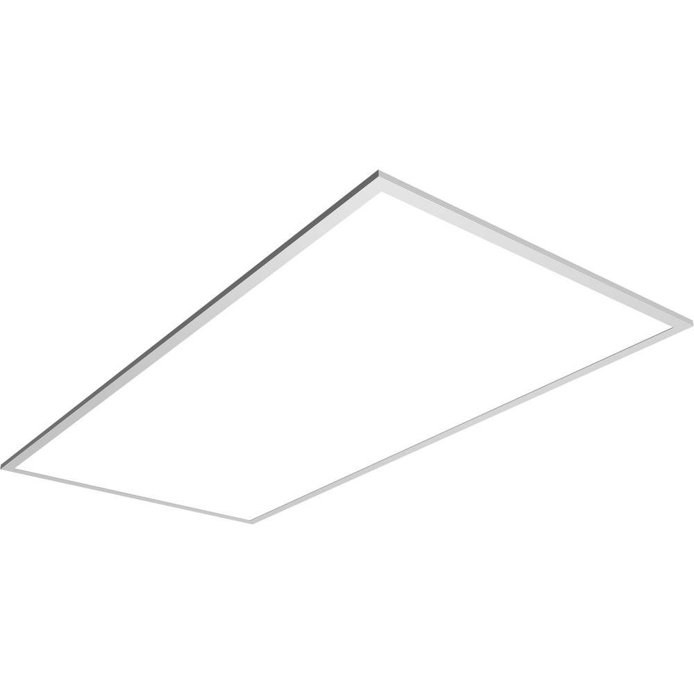 white integrated led flat panel troffer (20-pack)