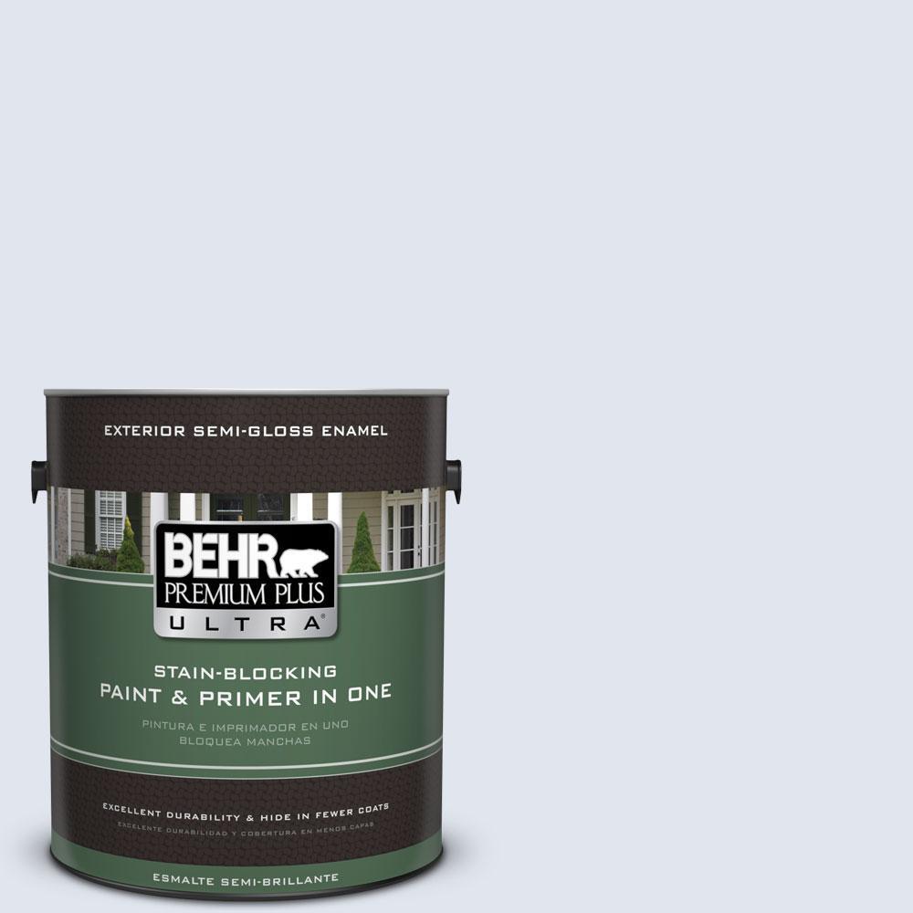 BEHR Premium Plus Ultra 1-gal. #590E-1 Lavender Ice Semi-Gloss Enamel Exterior Paint