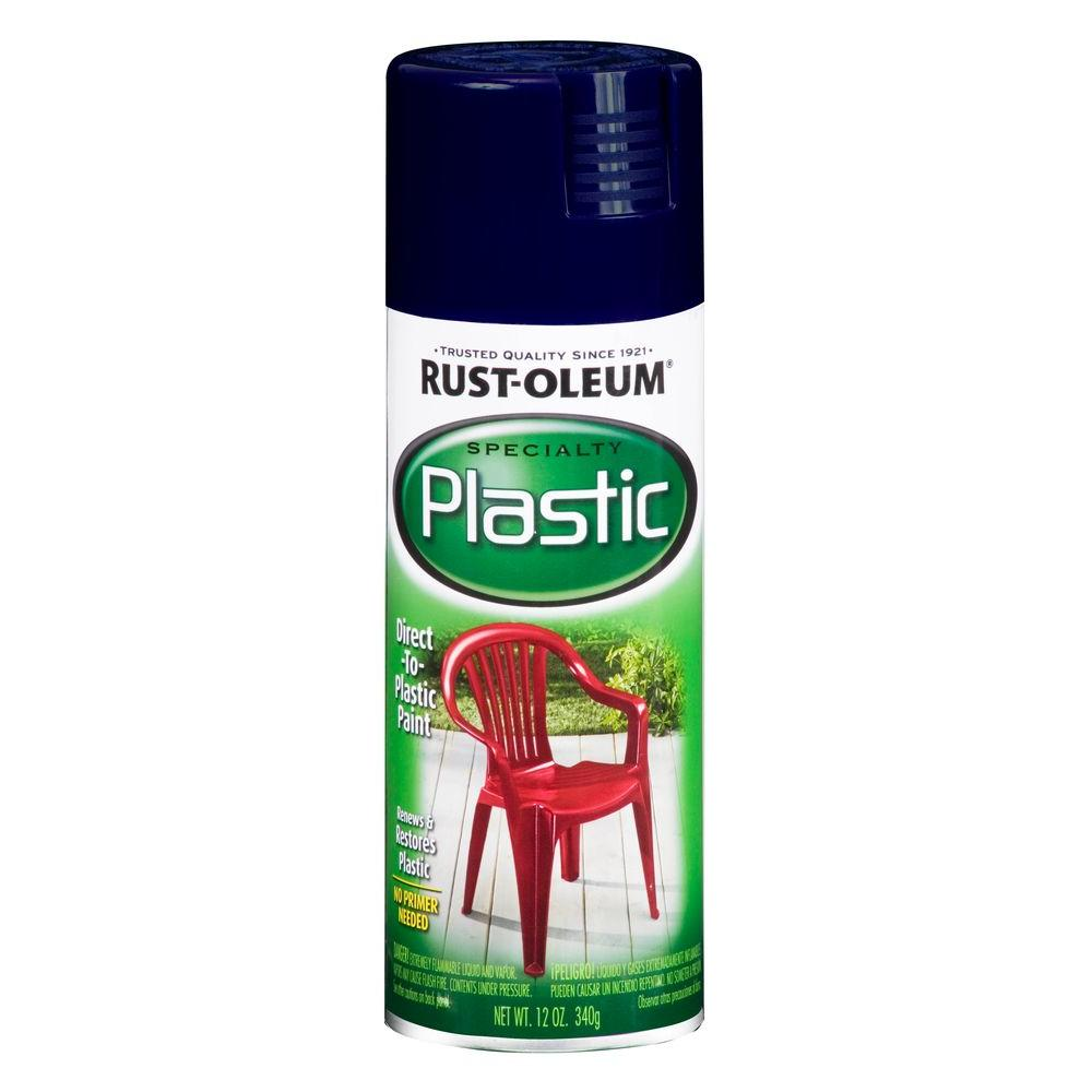 Rust-Oleum Specialty 12 oz. Navy Paint for Plastic Spray Paint (6-Pack)
