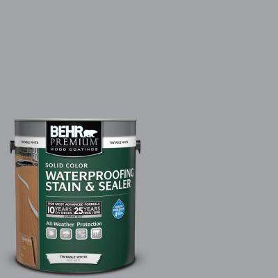 1 gal. #N530-4 Power Gray Solid Color Waterproofing Exterior Wood Stain and Sealer