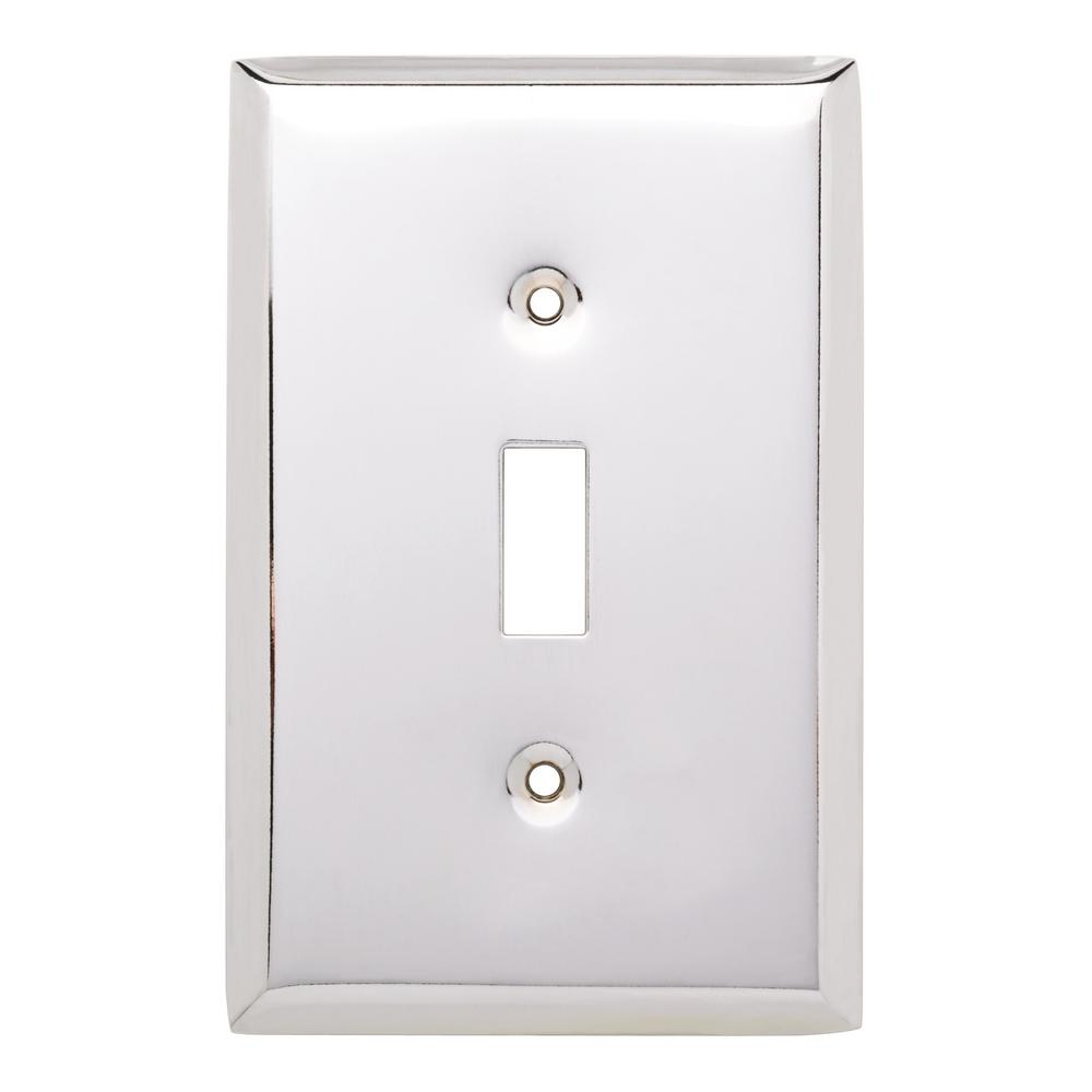 St&ed Square Decorative Single Switch Plate Polished Chrome  sc 1 st  Home Depot & Chrome - Switch Plates - Wall Plates - The Home Depot