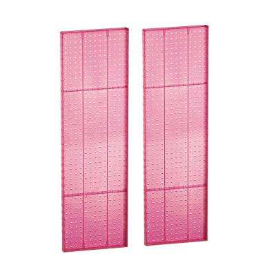 44 in. H x 13.5 in. W Styrene Pegboard in Pink (2-Pieces per Box)
