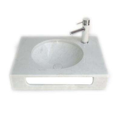 Pasadena China Vessel Sink in White with Overflow Drain