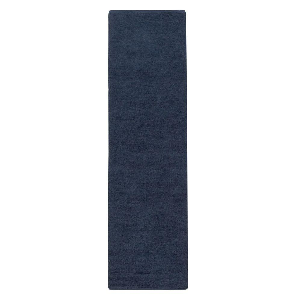 Home Decorators Collection Royale Chenille Blue 2 ft. 3 in. x 12 ft. Rug Runner