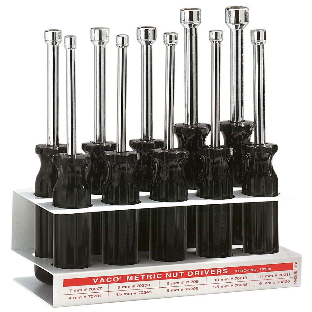 KleinTools Klein Tools 10-Piece Metric Nut Driver Set with Stand