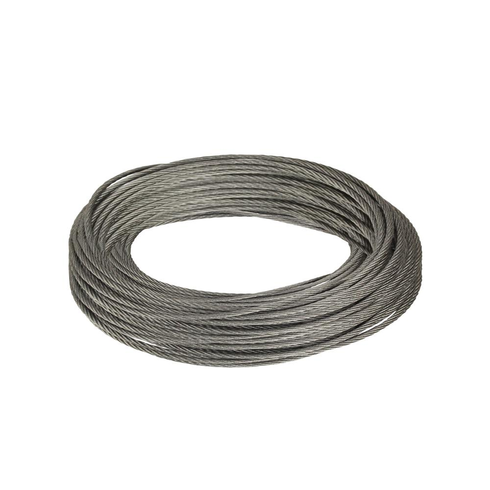 Everbilt 1/16 in. x 50 ft. Galvanized Uncoated Wire Rope-811072 ...
