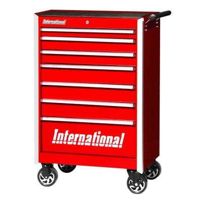 Pro Series 27 in. 7-Drawer Cabinet, Red