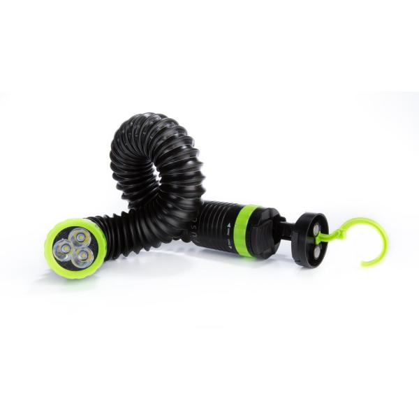 All-in-One 110 Lumens LED Handsfree Green/Black Flexible, Magnetic, Stretchable and Clampable Flashlight