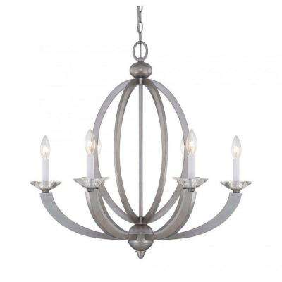 Knowsley 6-Light Silver Sparkle Chandelier