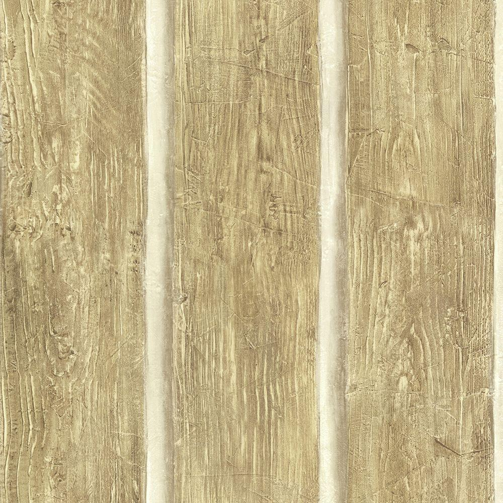 Chesapeake Chinking Maple Wood Panel Wallpaper Sample