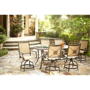 High Quality Martha Stewart Living Solana Bay 7 Piece Patio High Dining Set ABC SET 1148 7    The Home Depot