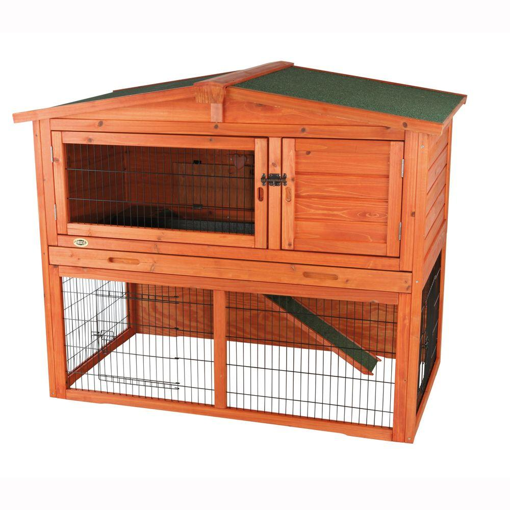 trixie 4 4 ft x 2 7 ft x 3 6 ft large rabbit hutch