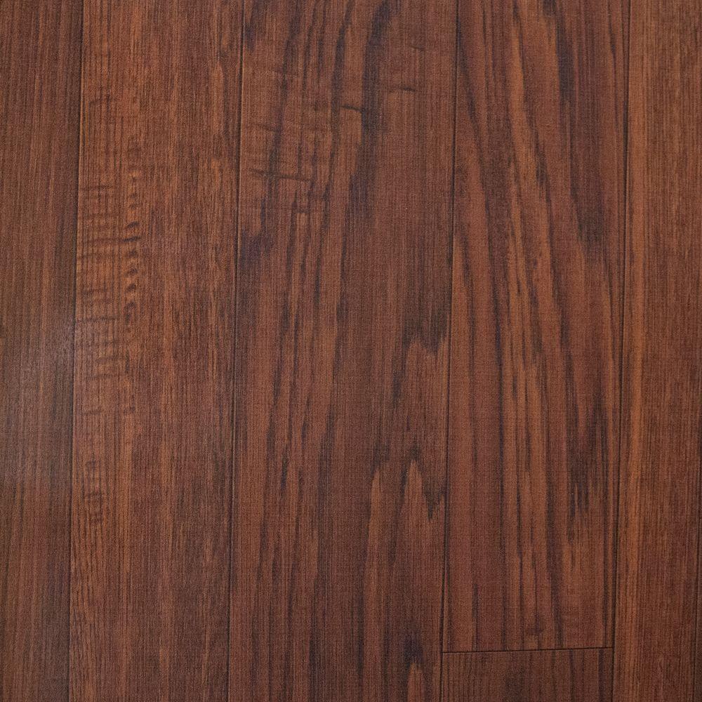 HDX Take Home Sample - Fireside Hickory Vinyl Universal Flooring - 8 in. x 10 in.