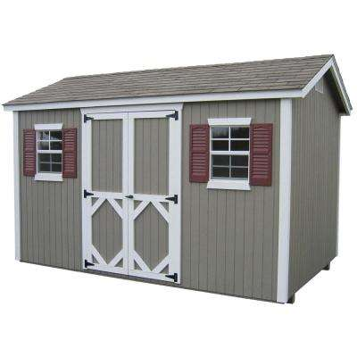 Classic Cottage 10 ft. x 12 ft. Wood Storage Building DIY Kit with Floor
