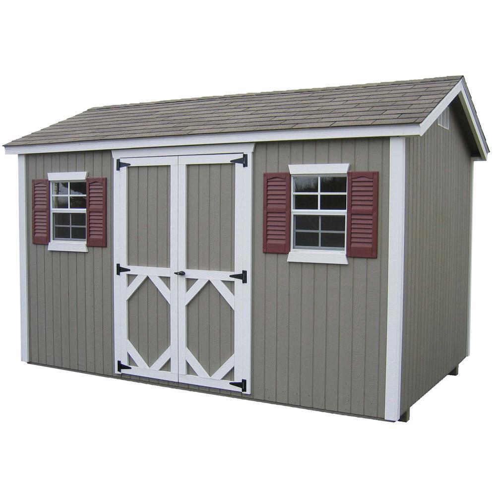 Classic Workshop 8 ft. x 12 ft. Wood Storage Building DIY Kit with Floor