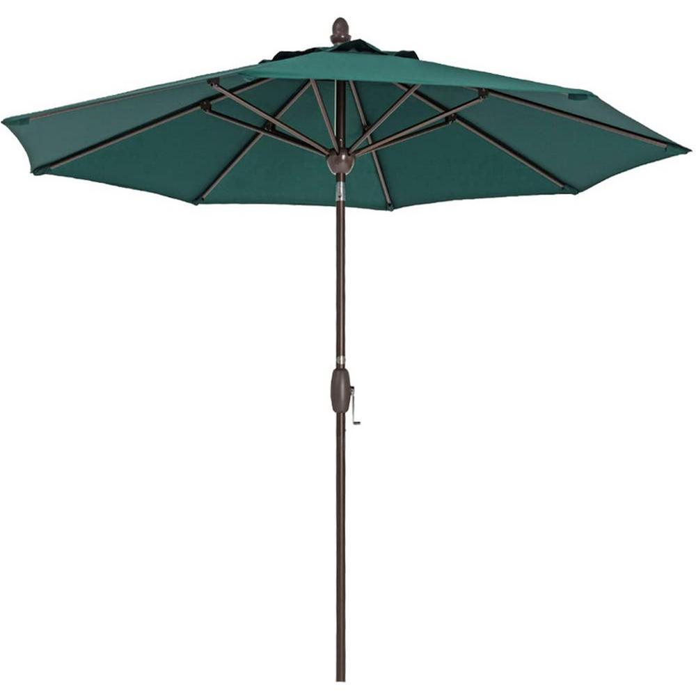 9 ft. Polyester Patio Umbrella in Dark Green