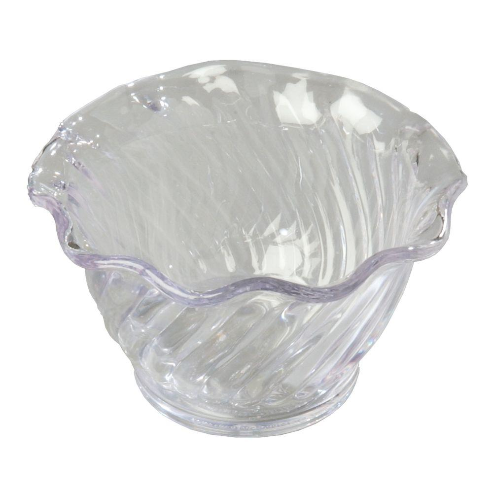 Carlisle 5 oz. Polycarbonate Tulip and Berry Dish in Clear (Case of 24)
