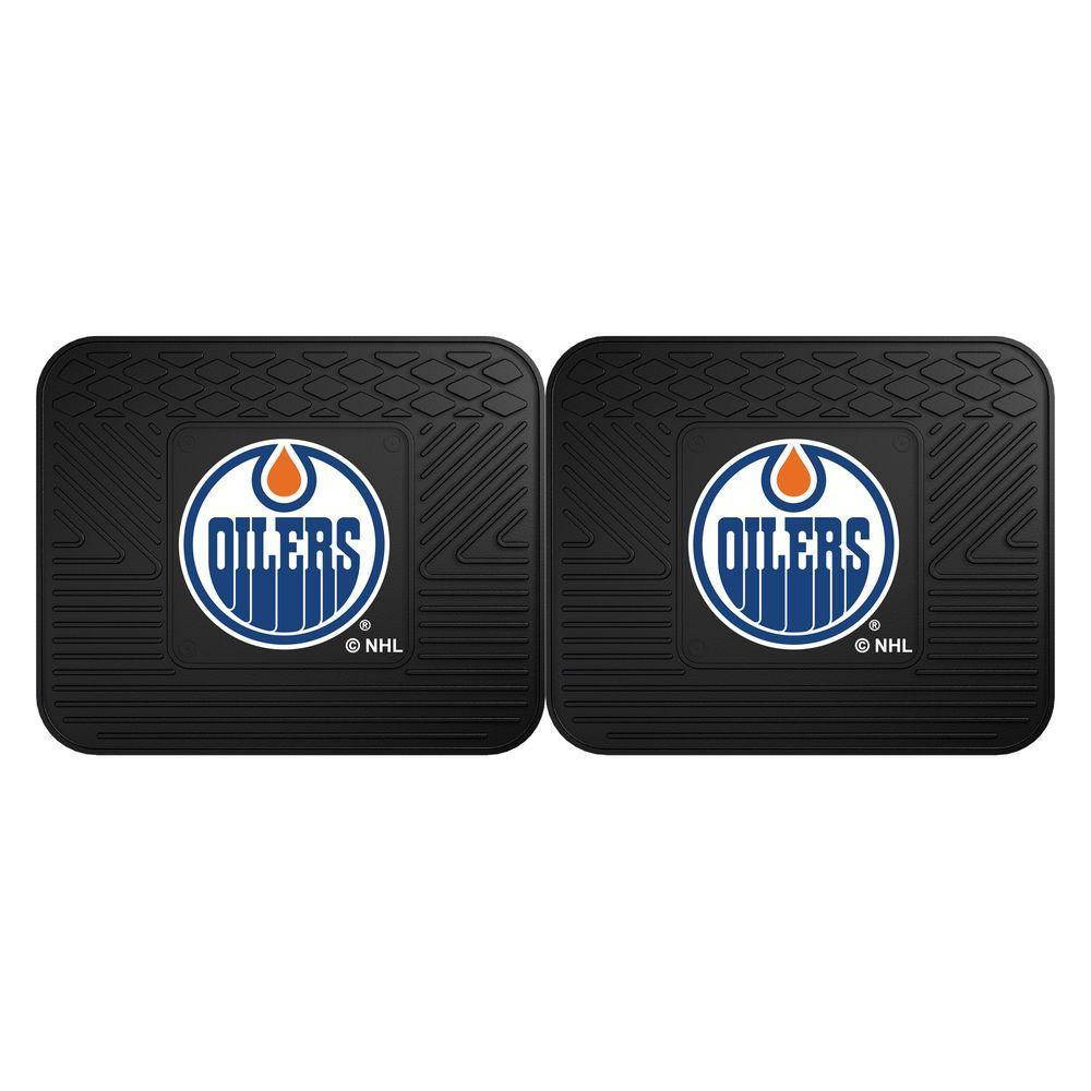 FANMATS NHL Edmonton Oilers Black Heavy Duty 14 In. X 17