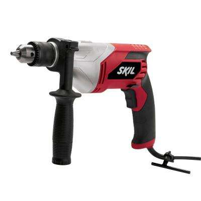 Factory Reconditioned Corded Electric 1/2 in. Variable Speed Drill with Keyed Chuck and Side-Assist Handle