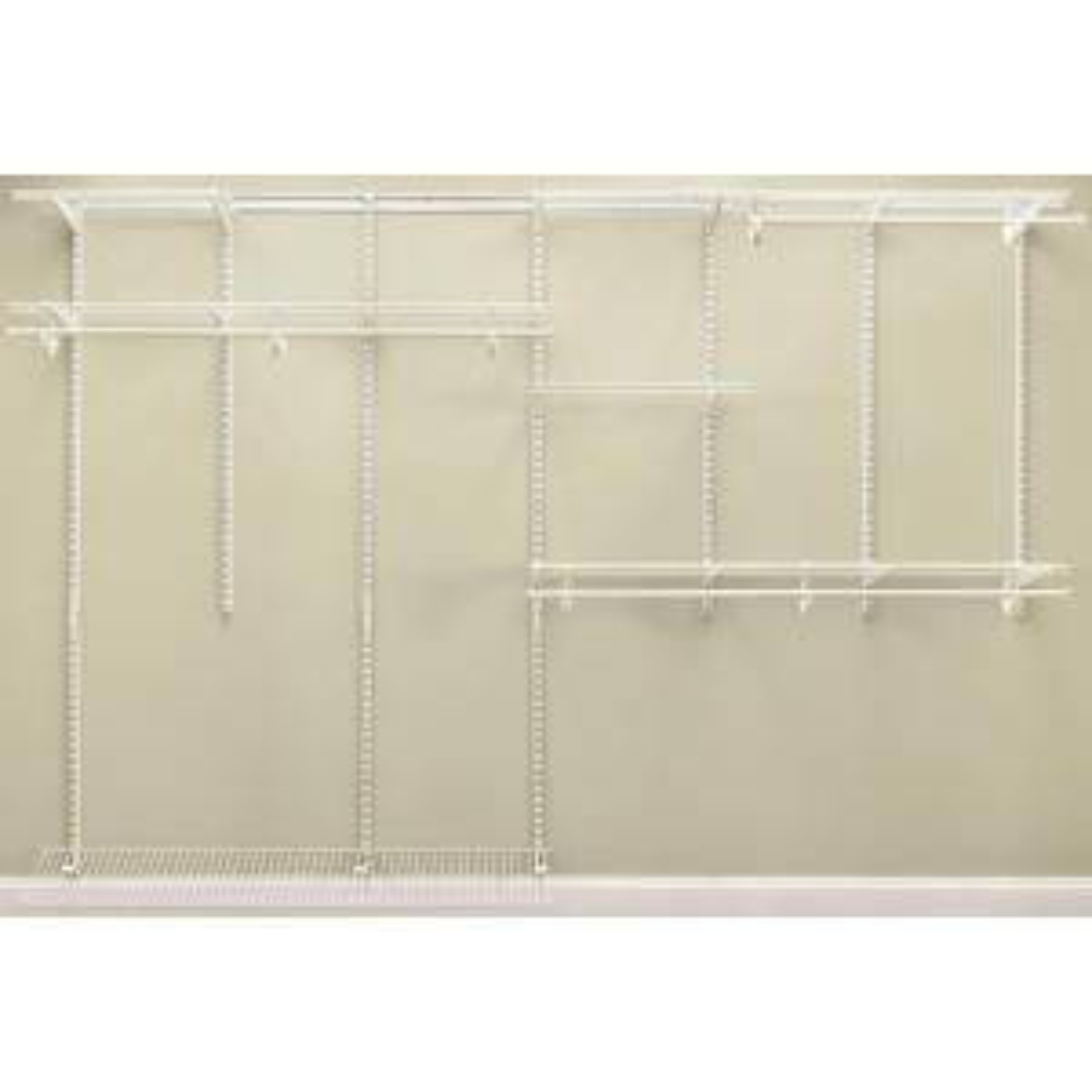 ClosetMaid ShelfTrack 7 Ft.   10 Ft. White Closet Organizer Kit 2891   The  Home Depot