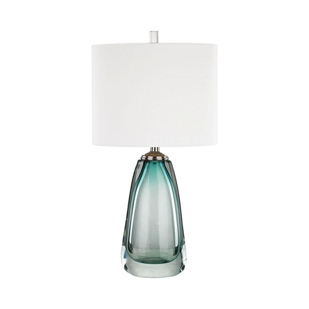 Titan Lighting Ms. Aqua 26 In. Aqua Table Lamp
