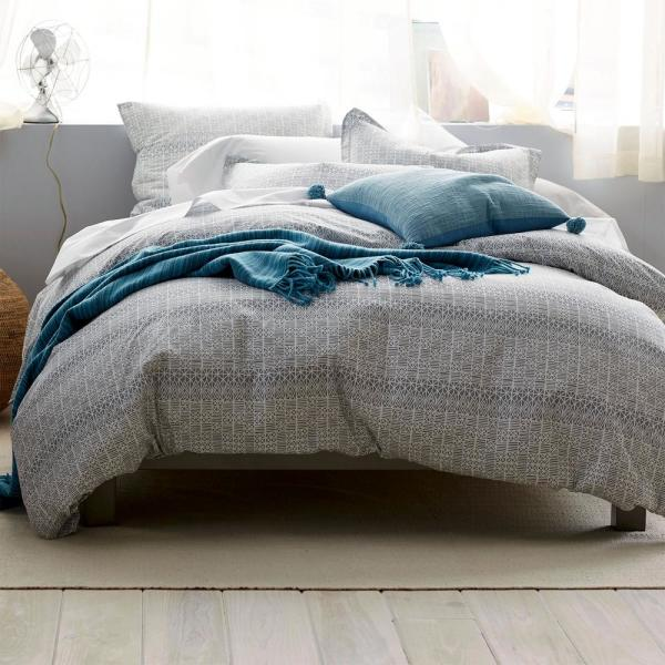 Cstudio Home by The Company Store 3-Piece Basket Geo Percale King