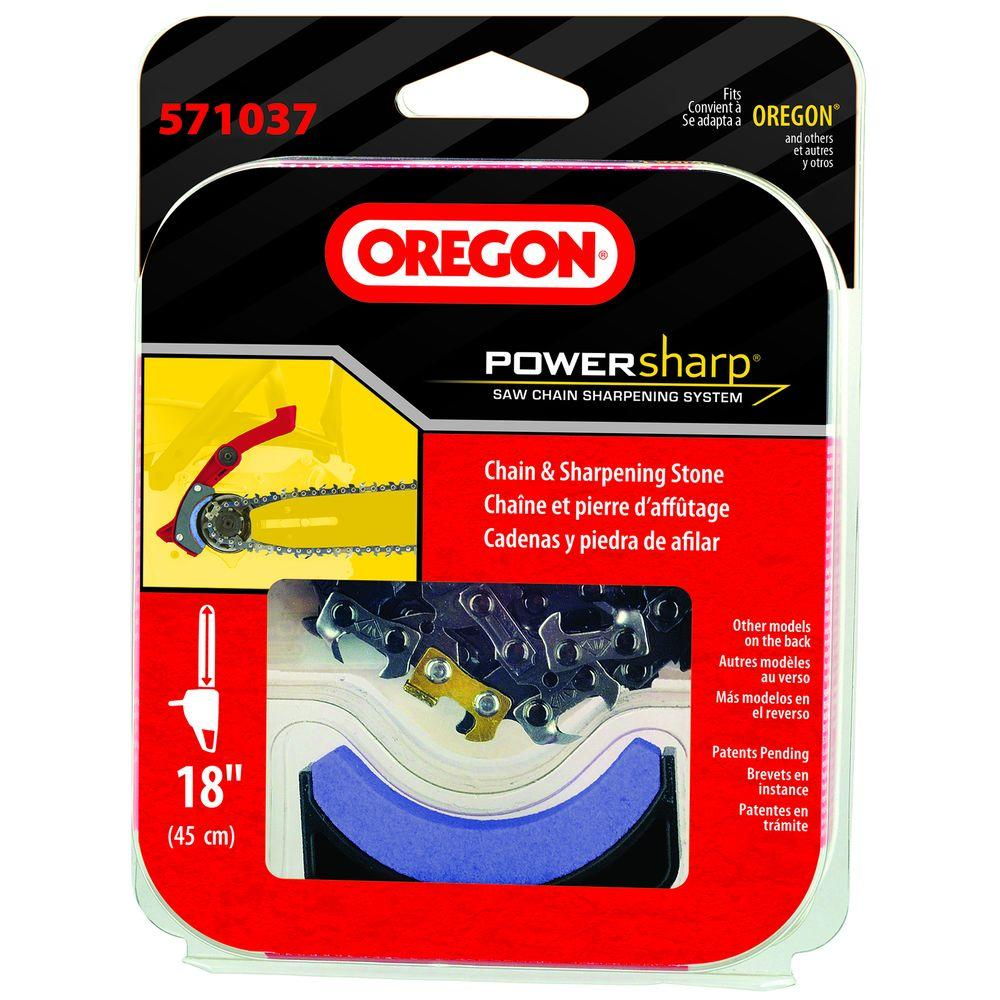 Oregon replacement chainsaw chain powersharp 571037 the home depot greentooth Choice Image
