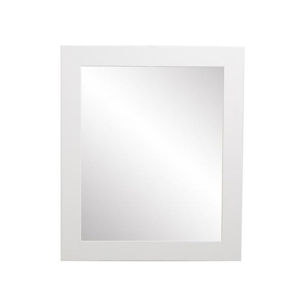 Large Rectangle White Hooks Modern Mirror (55 in. H x 32 in. W)