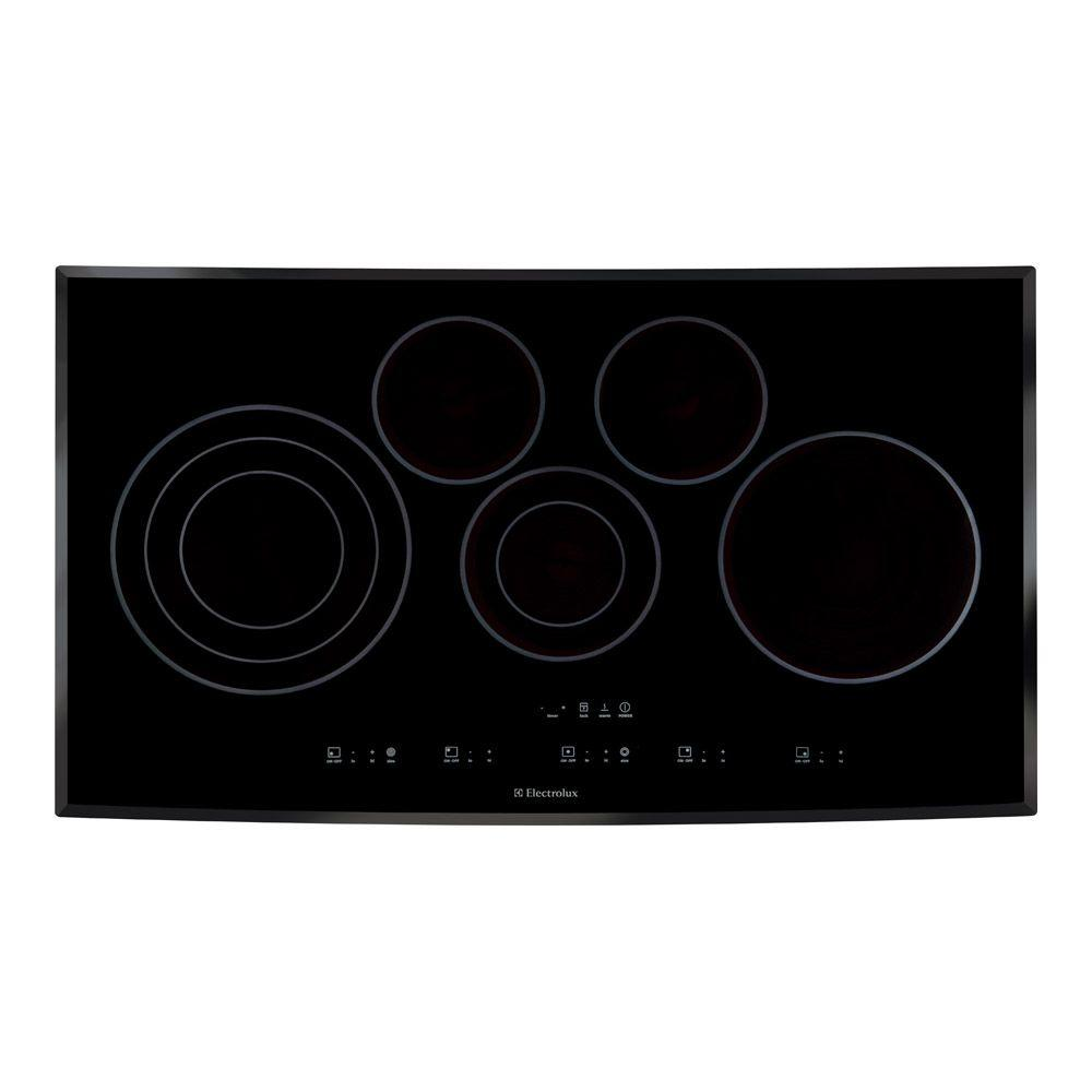 Electrolux 36 in. Smooth Surface Electric Cooktop in Black with 5 Elements including Flex-2-Fit Element