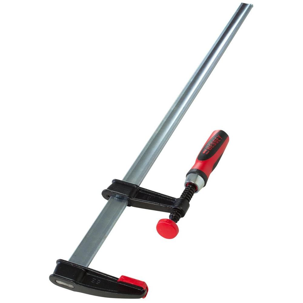 BESSEY TGJ Series 30 in  Bar Clamp with Composite Plastic Handle and 2-1/2  in  Throat Depth