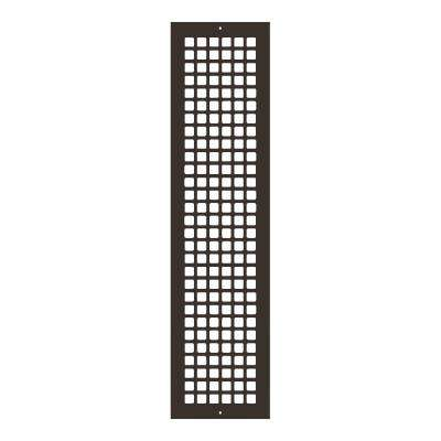 Square Series 30 in. x 6 in. Steel Grille, Oil Rubbed Bronze with Mounting Holes