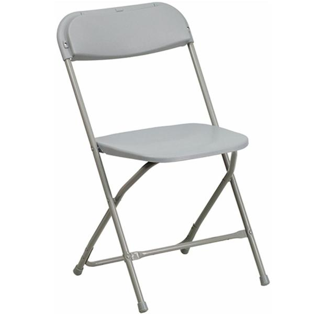 Advantage Gray Poly Dining Folding Chair