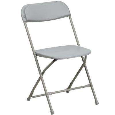 Gray Poly Dining Folding Chair